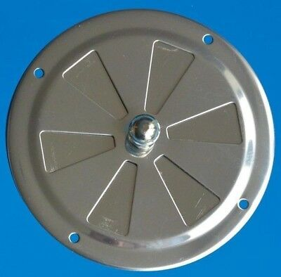 """Centre Knob 4/"""" 100mm Butterfly Vent Grill Stainless Steel 304 Marine Grade"""