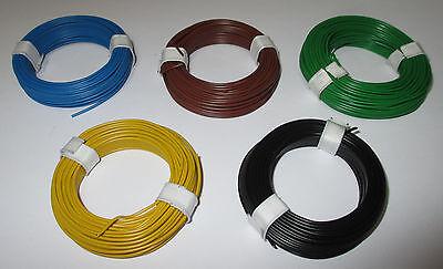 [0,139€/m] Kupfer Schaltdraht  0,5mm  5 Ringe a 10 Meter  NEU  -Farbwahl-