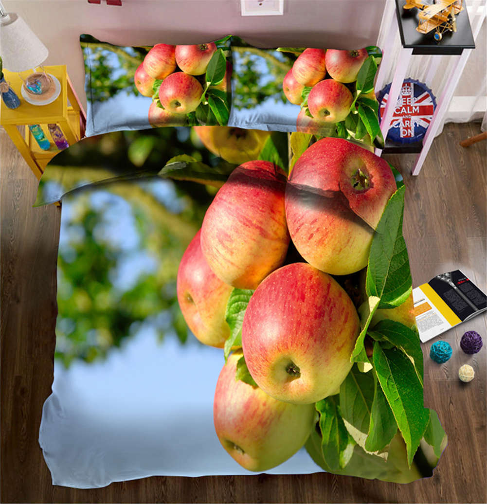 Bashful Apple 3D Printing Duvet Quilt Doona Covers Pillow Case Bedding Sets
