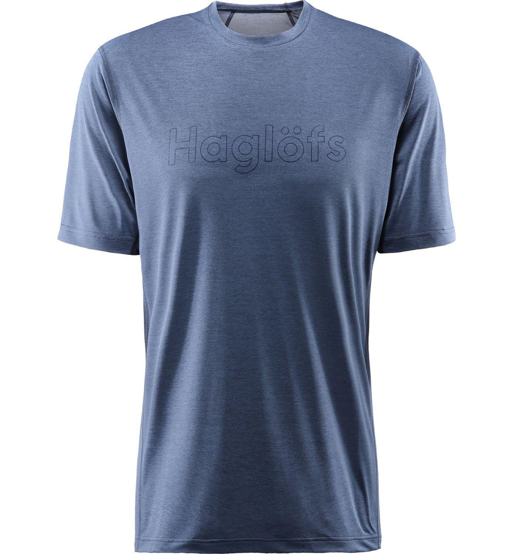 Haglofs Ridge Tee men, molto leggero funzione SHIRT per uomo, Tarn blu TAGLIA XL