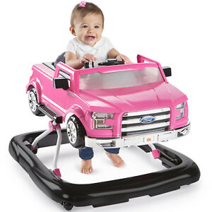 Baby-Toddler-Girls-Walker-Ford-F-150-Truck-Pink-Baby-Portable-Comfortable-New