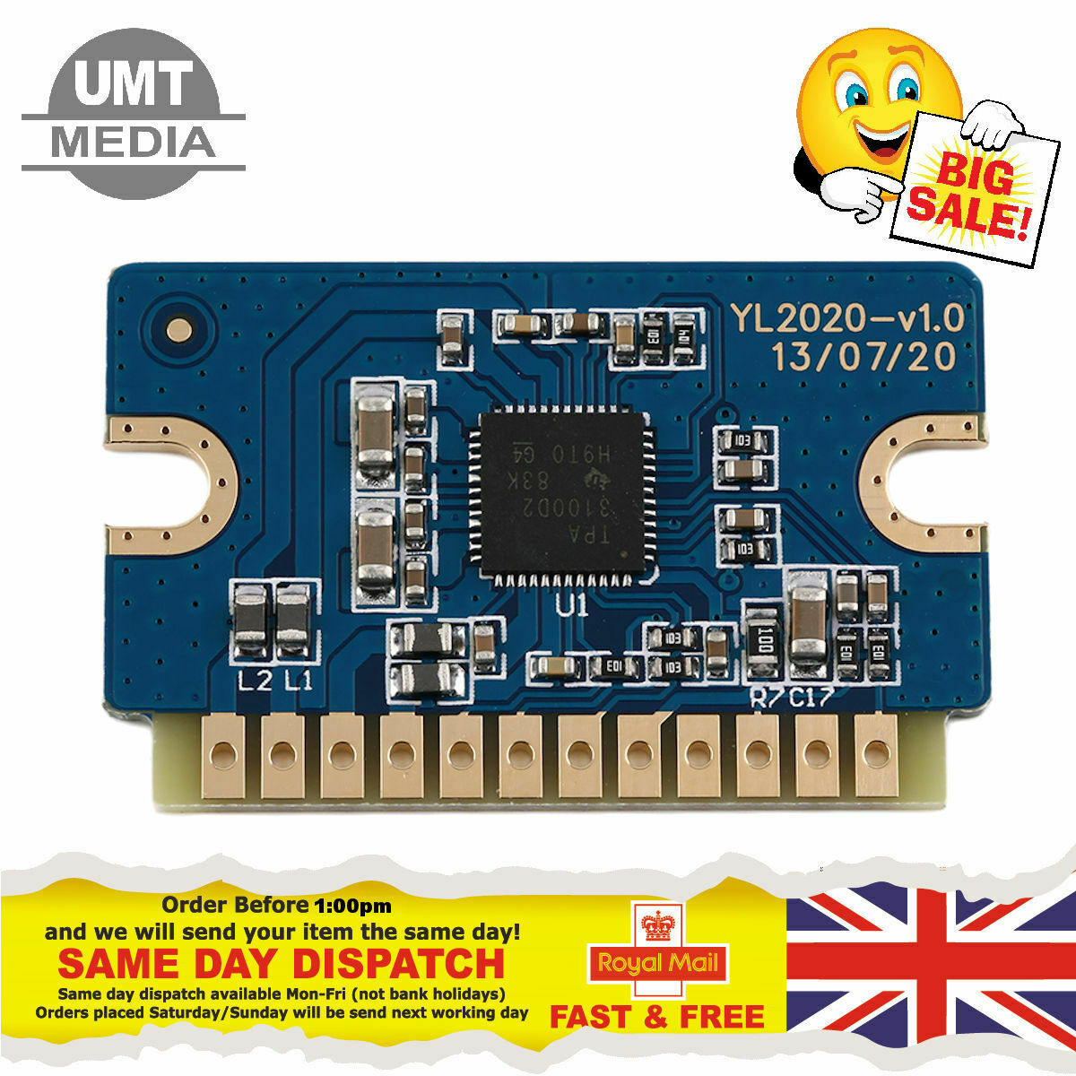 Yl2020 20W+20W Digital Power Amplifier Board 12V-24V Mini Module Parts