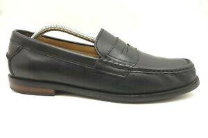 Cole-Haan-Pinch-Black-Leather-Slip-On-Penny-Loafers-Men-039-s-10-5-M