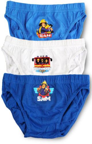 100/% Cotton Fireman Sam Briefs Pants Slips Underwear Pack of 3