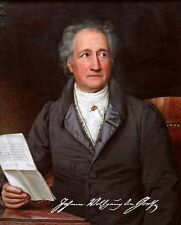 JOHANN WOLFGANG VON GOETHE - Repro-Autogramm, 20x25 cm, Großfoto, signed