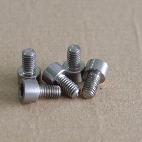 10X  Titanium Ti Gr5 M6x15mm cup head hex socket bolt screw DIN912