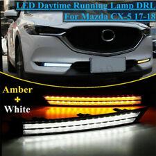 Direct fit front bumper fog light LED DRL daytime running For 13-16 CX-5 cx5
