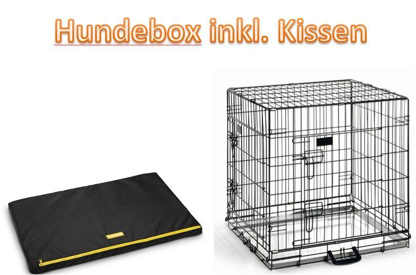 Transportbox Transportkäfig Gitterbox für Hunde mit Kissen 63x55x61cm NEU
