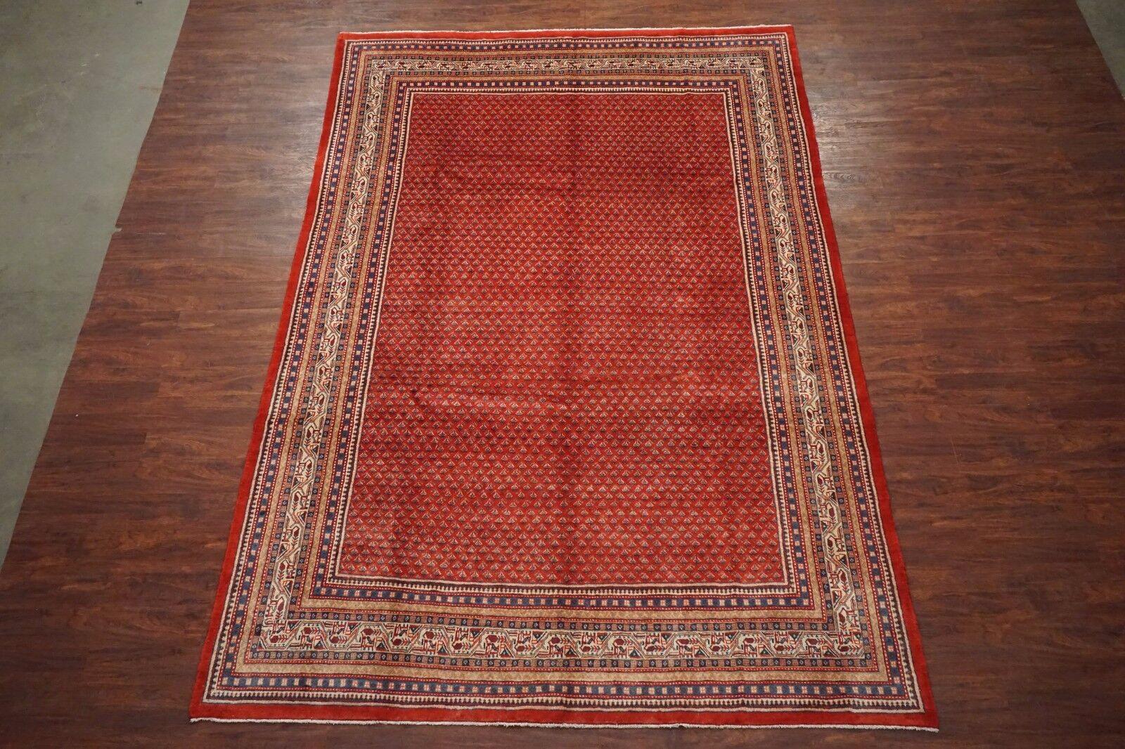 8x12 Persian Saraband Sarouq Mir Hand Knotted Wool Area