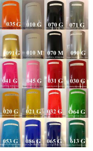 """5 rollos de 24/"""" X 10 YD Oracal 651 colores elegir paquete de vinilo de corte de signo 50 yardas"""