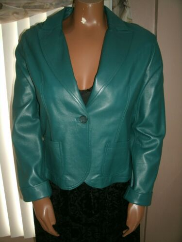 Nyt Casual Foret Ægte Size Læder Green Fuldt Corner Women's L Jacket qvqwAZB