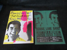 Ronnie Lane Band 1990 Japan Tour Book with Flyer Small Faces Ian Mclagan Program