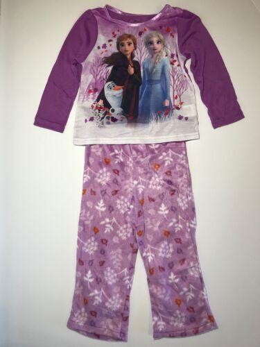 Frozen II Girls 2 Piece Sleepwear Set Pajamas Elsa Anna Olaf Snowflake Choose Sz