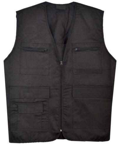 Mens Gilet WaistCoat Body Coat Vest Hunting Shooting Safari Big Size M-6XL
