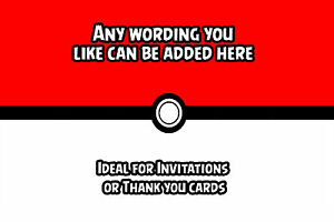 12 Pokemon Personalised Thank You Card A6 Photo