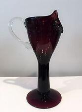 Bischoff Indiana Handcraft Glass Rare Figural Bird Cocktail Pitcher