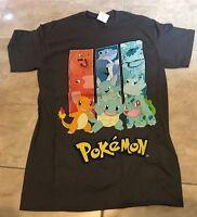 Authentic Nintendo Pokemon Group Charizard Wartortle Gray Shirt L Large Tag