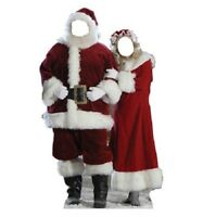 Mr. And Mrs. Claus Stand-in Christmas Party Decorations Party Photo Op