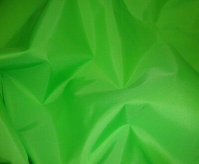 """Outdoor Lime Packcloth 420 Denier Nylon Water Resistant fabric per yard 60"""" wide"""