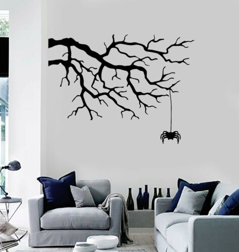 Vinyl Wall Decal Tree Branch Spider Room Decor Stickers Mural ig4474