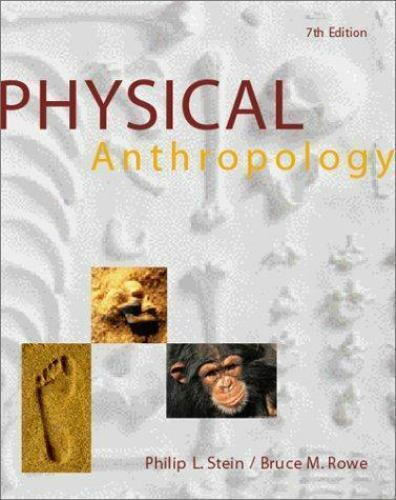 Physical Anthropology Stein, Philip L., Rowe, Bruce M. Paperback Used - Good