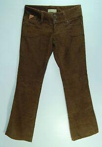 Low-WIDE-Waist-3-Pocket-BROWN-Flare-EZEKIEL-Lightweight-Corduroy-Pants-3