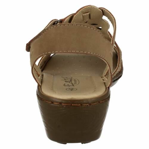 "Eaze F3105 Ladies Synthetic 2/"" Wedge Heel COMFORT Cushioned Casual Sandlas"