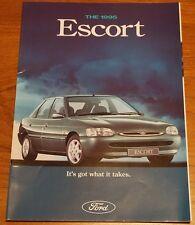 1995 Ford Escort 1.3 1.4 1.6 1.8 TD Encore L LX Si Ghia Si Cabriolet Brochure