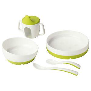 Image is loading IKEA-5-Piece-Breakfast-Lunch-Dinner-Plate-Bowl-  sc 1 st  eBay & IKEA 5 Piece Breakfast Lunch Dinner Plate Bowl Training Beaker Spoon ...