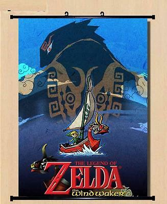 Wall Scroll The Legend of Zelda the wind waker cosplay Home Decor Poster 60*80cm