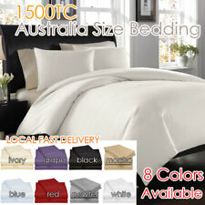 1500TC PURE EGYPTIAN COTTON All Sizes Sheet Set Flat,Fitted,Pillowcases