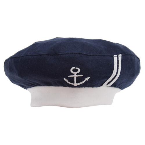 Cute White//Blue Baby Children/'s Navy Sailors Hats Boy Girls Wear Hats Caps