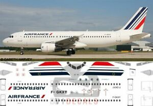 V1 Decals Airbus A320 Air France for 1/144 Revell Model Airplane Kit V1D0108