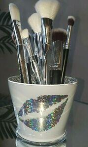 glam makeup brush holders  glam lipstick holder  vanity