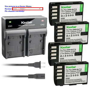 Kastar-Battery-Rapid-Dual-Charger-for-Panasonic-DMW-BLF19-BLF19E-Lumix-DMC-GH3GK