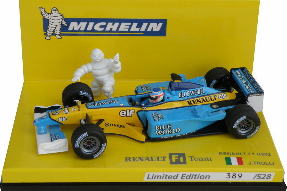 F1 1 43 RENAULT R202 TRULLI 2002 MICHELIN EDITION MINICHAMPS
