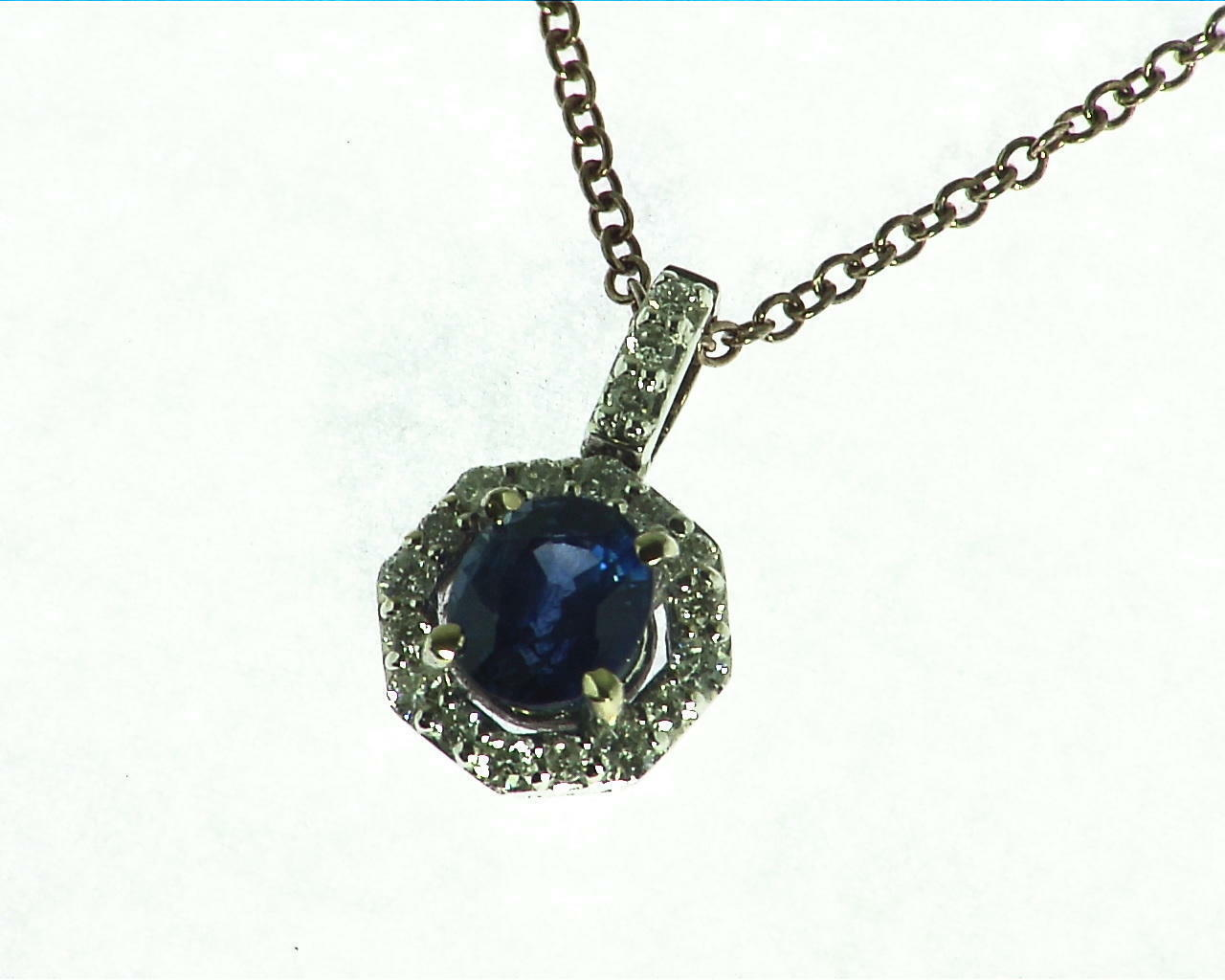 bluee Sapphire Natural Genuine Gemstone gold Pendent NFG,922