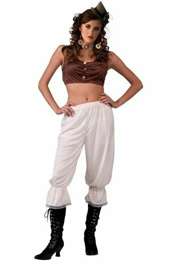 Steampunk Pantaloons Off White Cream Color