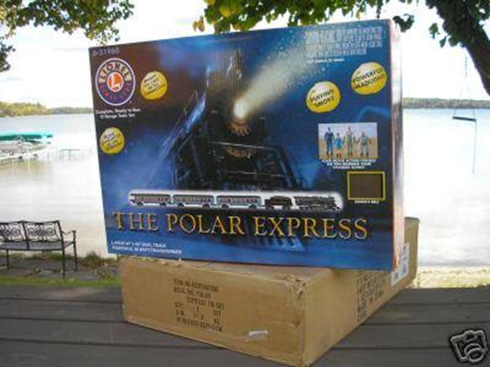 2004 Lionel il Polar Express Treno Set 631960 nuovo nella casella per la spedizione Lionel