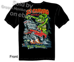 Rat-Fink-Tee-1968-1969-Camaro-Tshirts-68-69-SS-Chevy-T-Shirt-Sz-M-L-XL-2XL-3XL