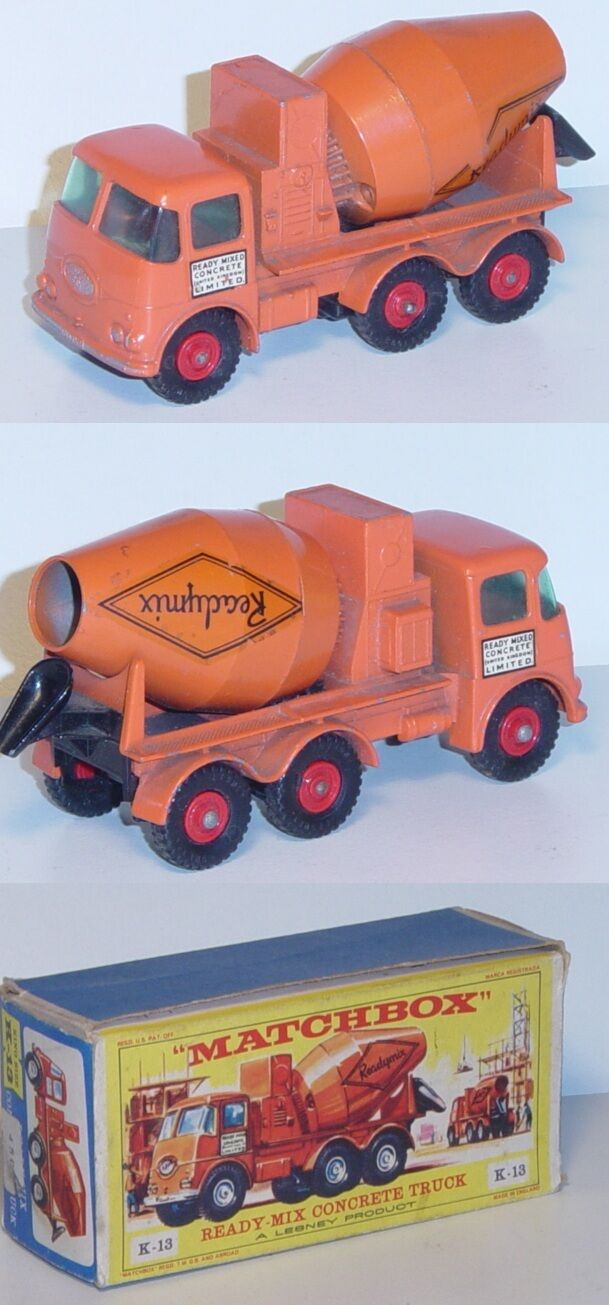 Matchbox k-13 ready-Mix concrete Truck ready mixed concrete   United Kingdom