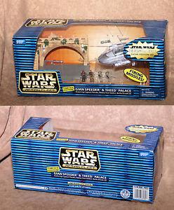 Star-Wars-Episode-1-Action-Fleet-Gian-Speeder-amp-Theed-Palace-Set-MIB-Ltd-Ed
