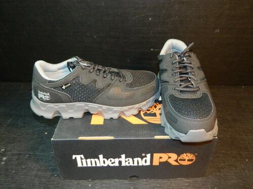 Novo Timberland Pro Masculino Powertrain ALLOY Segurança Dedo Do Pé Preto Cinza 92649 tamanho 7.5