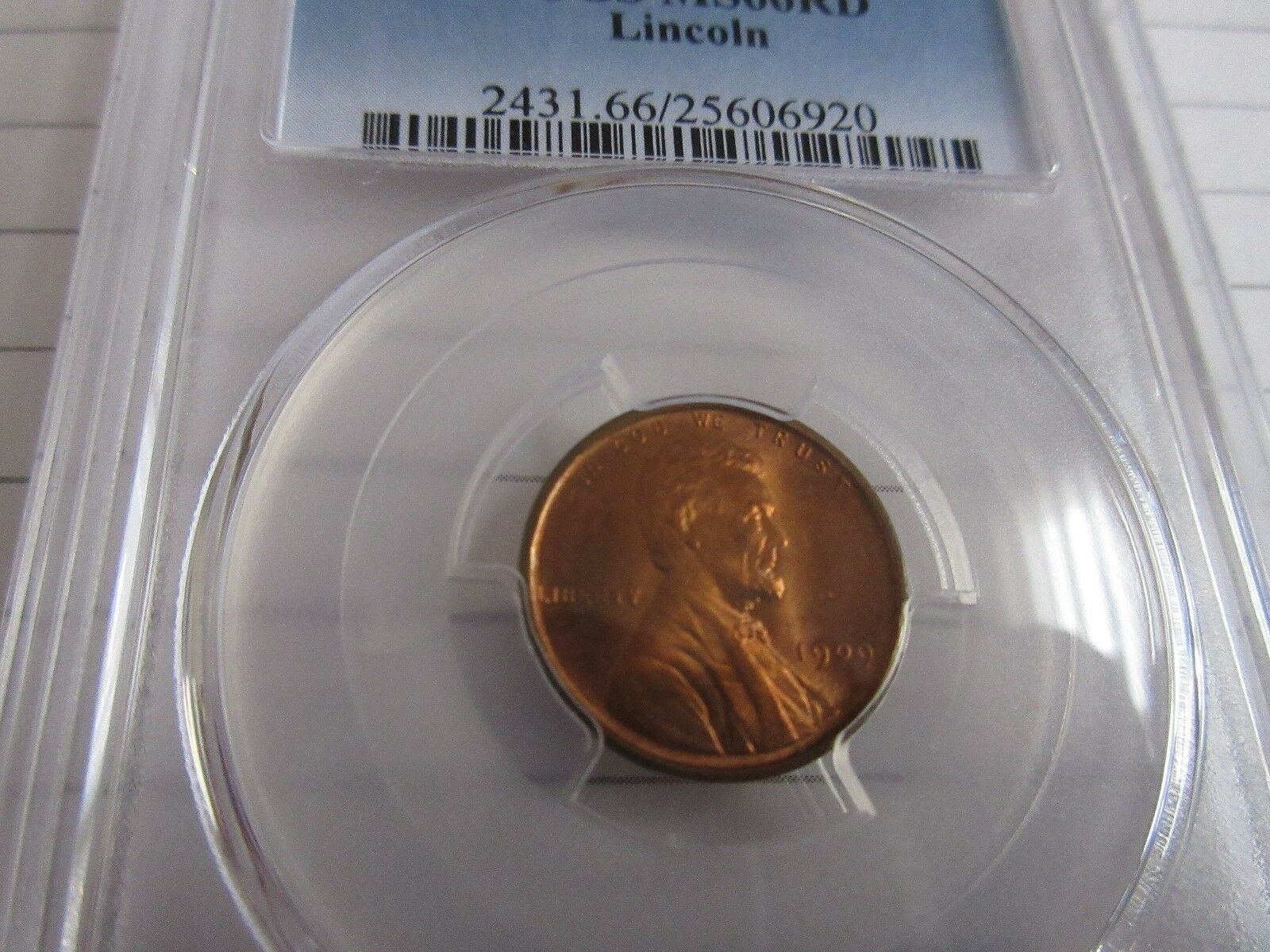 1909 , Lincoln Wheat Cent , PCGS , MS66RD