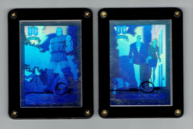 SUPERMAN HOLOGRAM CARDS SIGNED BY WALT SIMONSON DC COSMIC CHASE CARDS