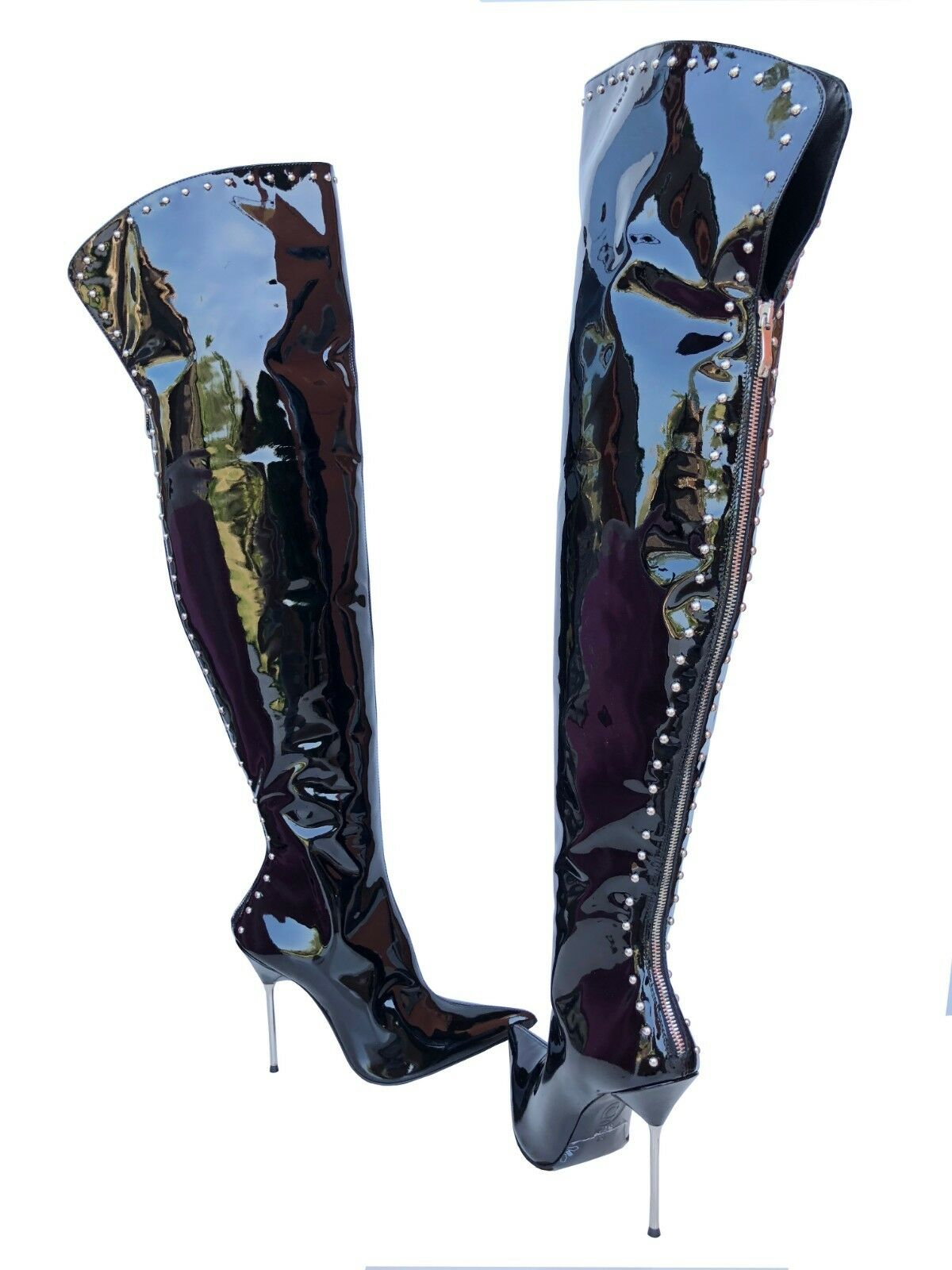 CQ Couture Platform Custom Over the Knee Boots Stiefel