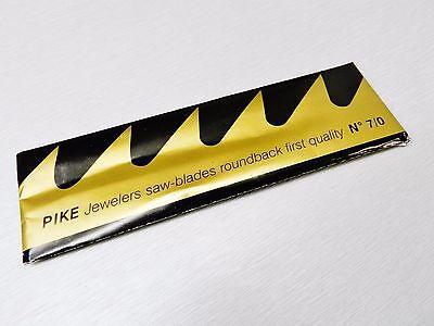 PIKE 7/0 JEWELERS SAW BLADES JEWELRY MAKING FINE BLADE for SAWFRAME SWISS 144 Pc