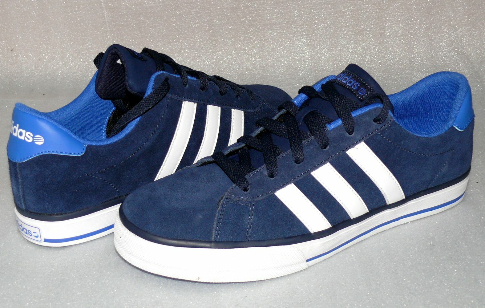 Adidas Neo F97751 Daily Ortholite Rau UP Velour Leder Schuhe Turnschuhe 44 48 Navy