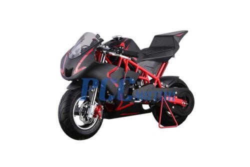 FREE SHIPPING KIDS 40CC 4 STROKE MINI BIKE GAS MOTOR SUPERBIKE RED H DB40B
