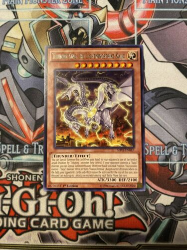 SHVI-EN087 Rare 1st ed NM Yugioh Card the Lightningstrike Kaiju Thunder King